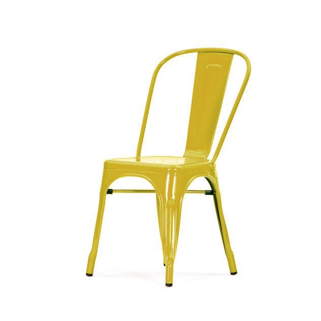 ... Xavier Pauchard Tolix Terrace Chair No Armrests Glossy Yellow ...