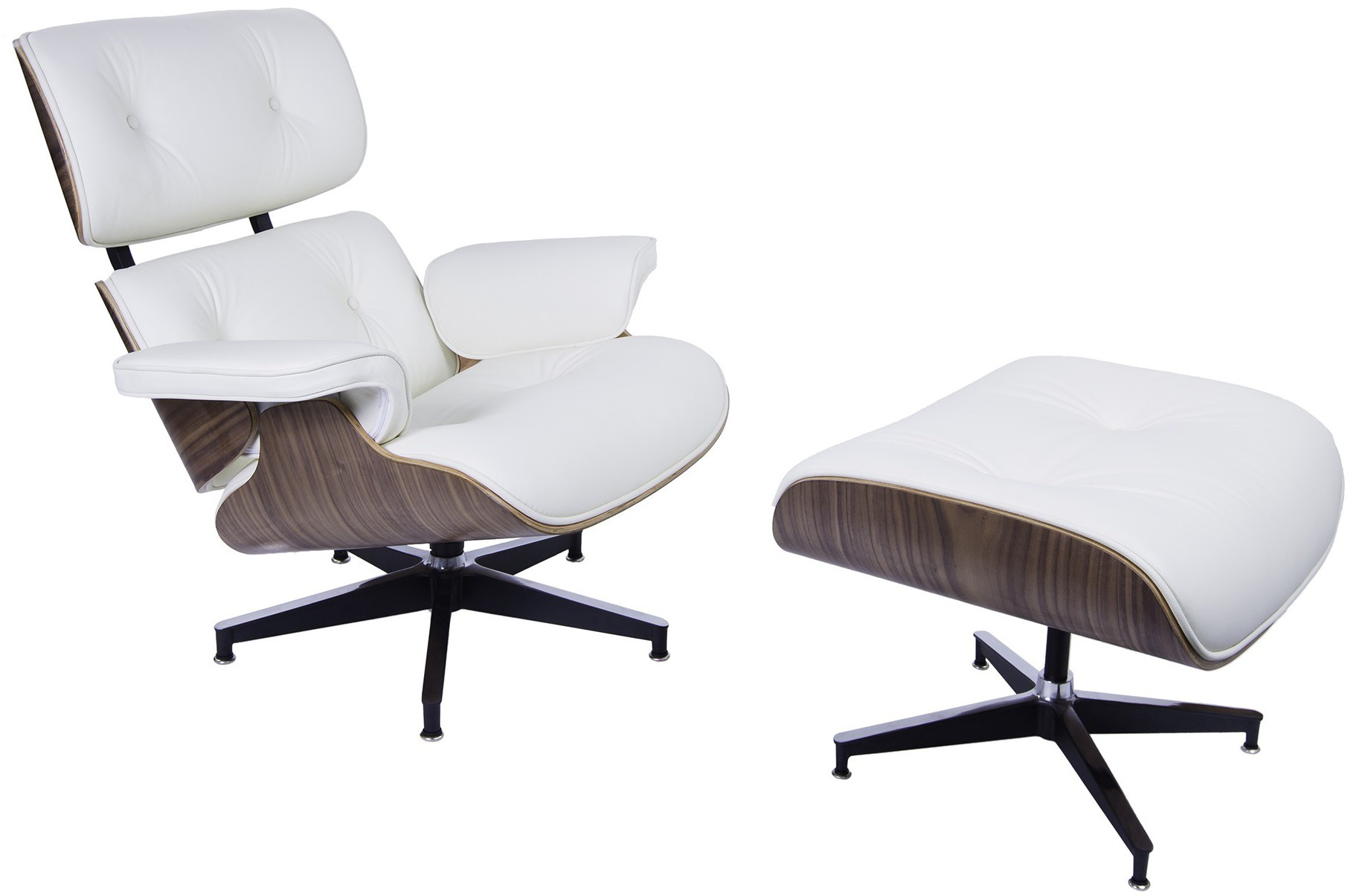 Eames Stoel Lounge.Charles Eames Lounge Chair With Hocker Lounge Xl Design Lounge