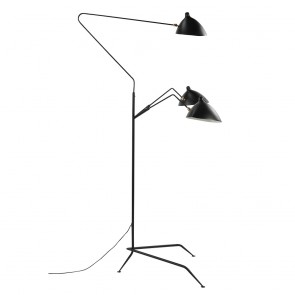 Contemporary floor lamp 3 arm black