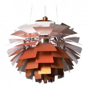 Poul Henningsen Artichoke lamp 92cm copper
