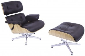 Charles Eames EA670 Lounge chair with Hocker