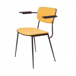 College arm chair yellow