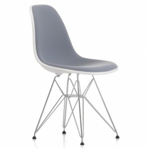 Eames DSR fibreglass upholstered light grey