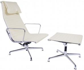 Eames EA124 lounge set cream