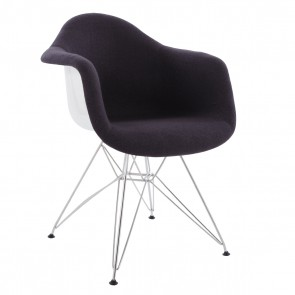 Eames DAR fibreglass upholstered dark grey