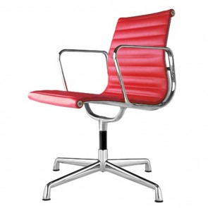 Eames conference chair EA108 leather red