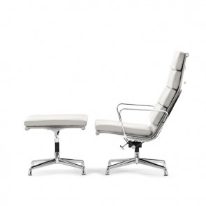 Eames lounge set EA222 leather white