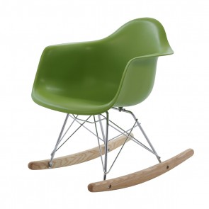Eames children rocking chair RAR green