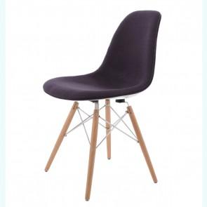 Eames DSW fiberglass upholstered dark grey