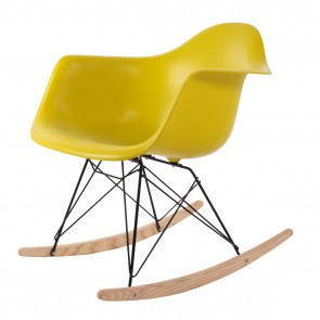 Eames rocking chair RAR Black Base PP mustard