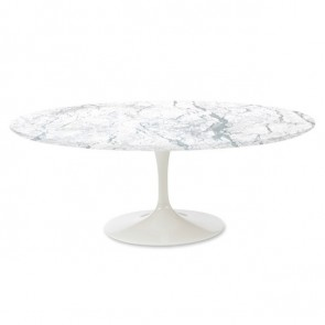 Eero Saarinen Tulip table Oval marble white