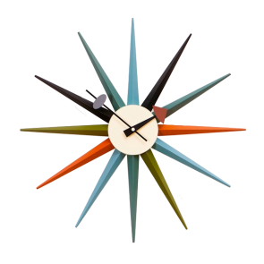 George Nelson Starburst Clock multicolor