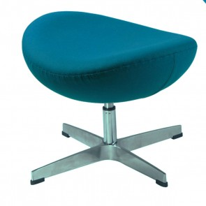 Jacobsen Egg chair footstool blue 23