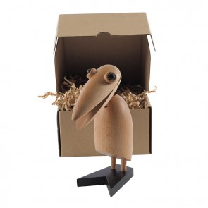 Dominidesign Klemvogel Houten pop