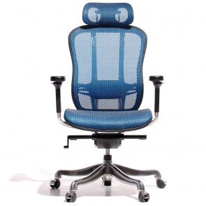 miller executive aaron gamechair mesh blue