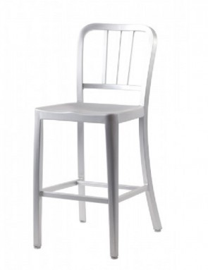 Navy bar stool aluminium SH:61cm