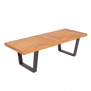George Nelson Bench 123cm walnut