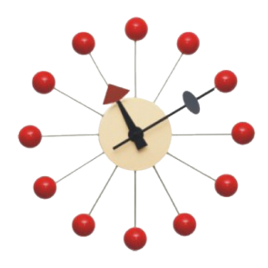 Nelson ball clock red