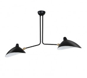 Contemporary Pendant light 2 arm black