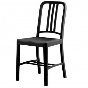 navy chair polypropylene black