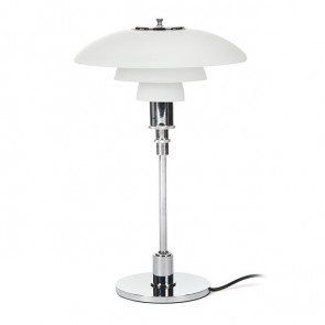 piere poulin 32 table lamp glass white