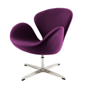 Jacobsen Swan chair purple 19