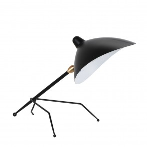 Contemporary table lamp black
