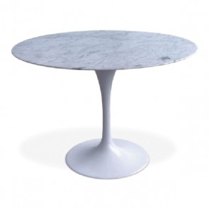 Eeero Saarinen Tulip table 100cm marble white