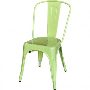 Xavier Pauchard Tolix terrace chair no armrests matt lightgreen