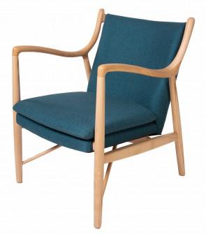 Finn Juhl lounge chair 45 blue