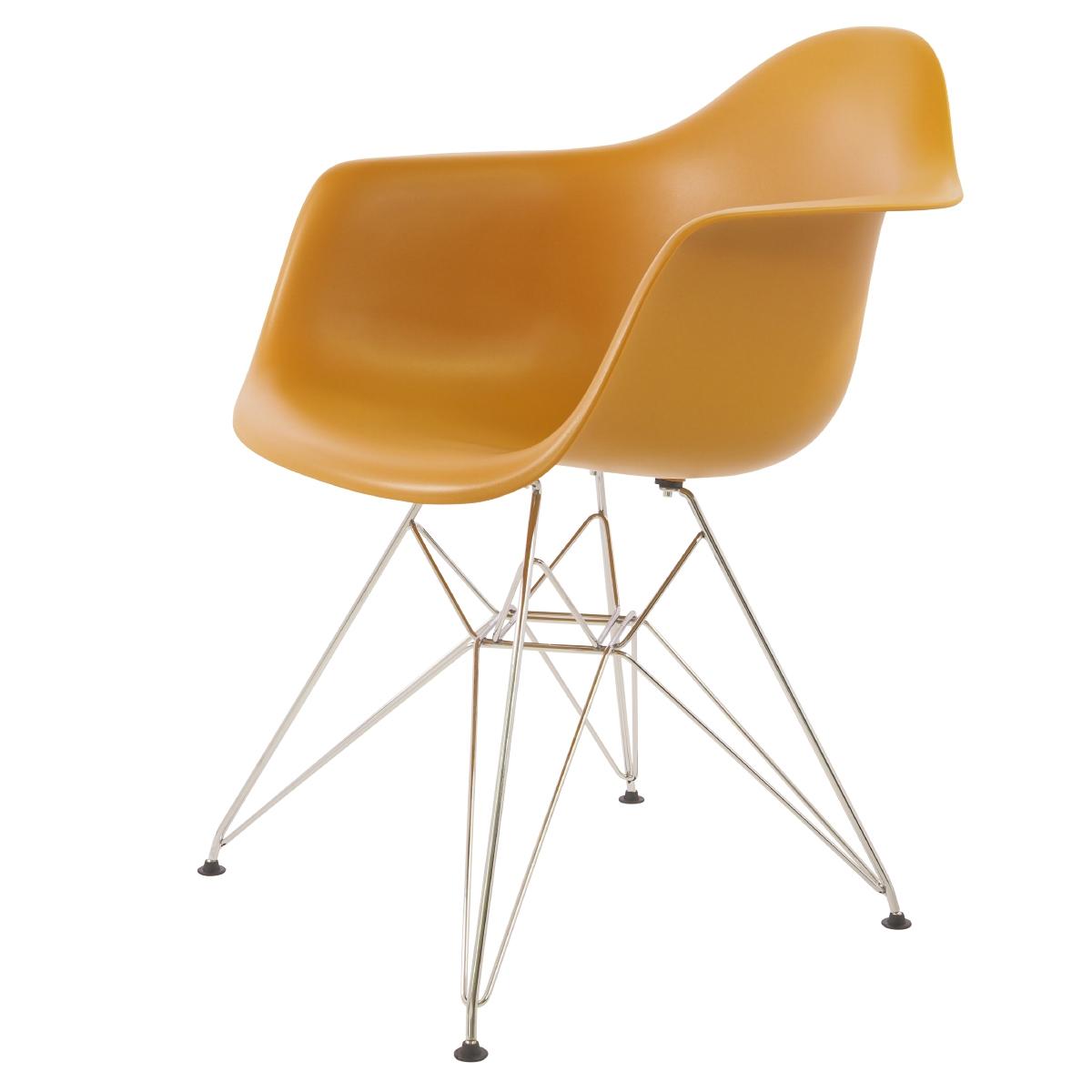 Charles Eames,spisestue stol DD DAR Svart base PP svart