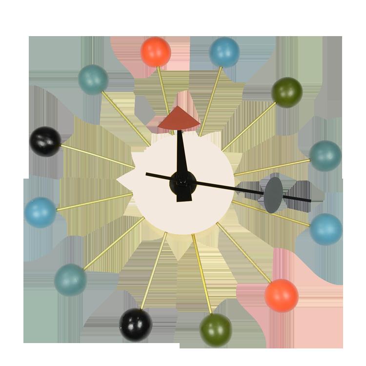 George Nelson Wall Clock Ball Clock Multicolor Design