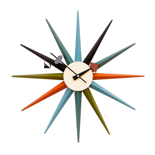 George Nelson Wall Clock Starburst Clock Multicolor