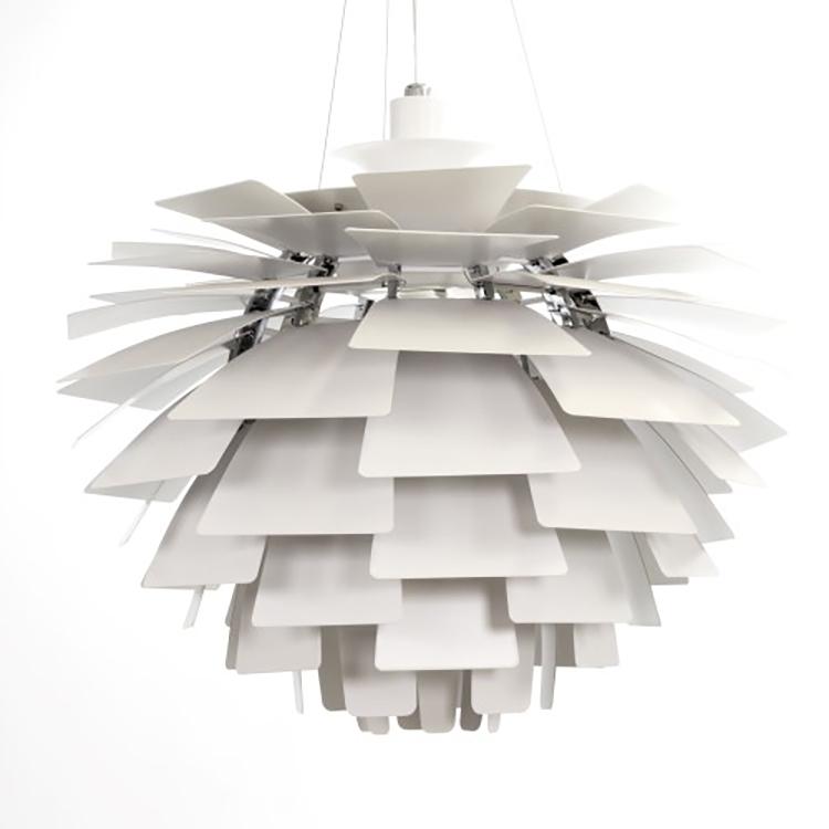pendelleuchte Artischocke Lampe 92cm weiß